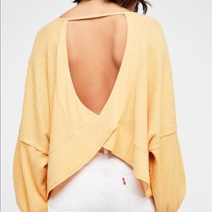 We The Free   Open Back Waffle Knit Thermal Top
